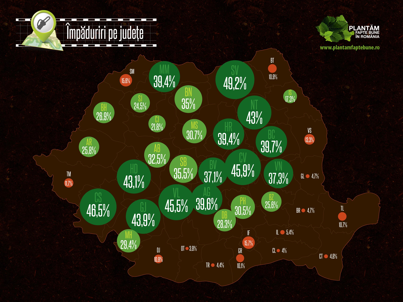 Harta impaduririlor pe judete